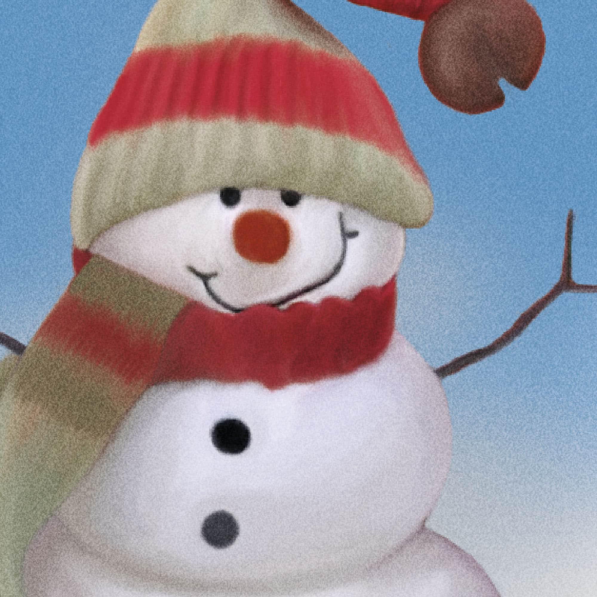 Le bonhomme de neige facétieux